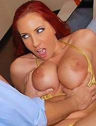 amazing super hot big tits red headerkelly...