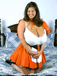 Maria Moore In Busty Red Riding Hood!