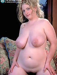 Naturally boobed shaved lady bare she sports...
